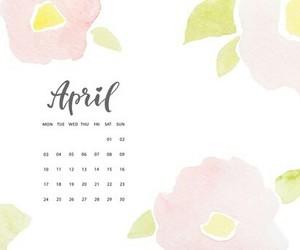 april, background, and calendar image