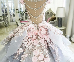 chic, dress, and flowers image