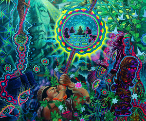 psychedelic, drugs, and weed image