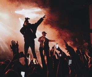 the weeknd, bryson tiller, and concert image