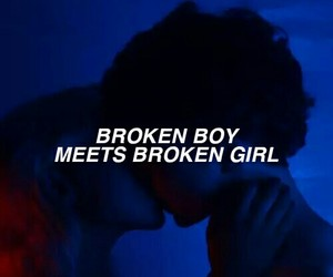 broken, boy, and quotes image