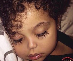 baby, eyelashes, and beauty image