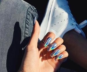 nails, fashion, and rainbow image