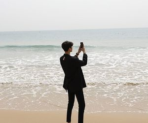 beach, boy, and korean image