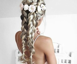 flowers and french braids image