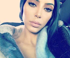 kim kardashian and makeup image