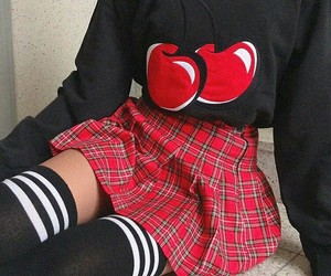cherry, fashion, and red image
