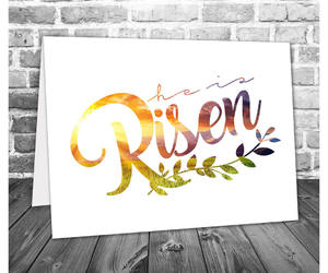 etsy, he is risen, and printable card image
