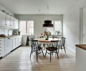 home decor, scandinavian style, and kitcen image