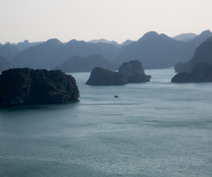 asia, halong bay, and sea image