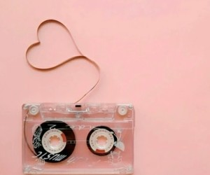 cute, cassette, and pink image