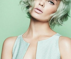 mint, mint green, and hair color image