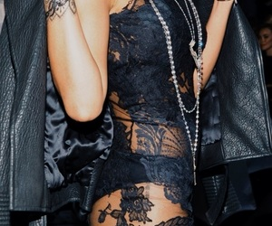 rihanna, fashion, and lace image