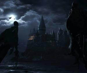 hogwarts, harry potter, and hp image