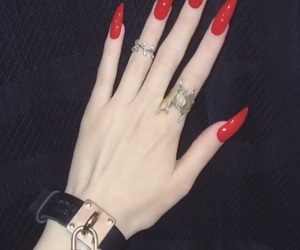 Darkness, goth, and hand image