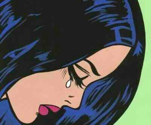 pop art, comic, and cry image