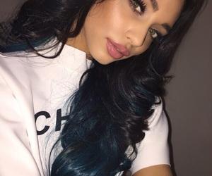 green eyes, long hair, and beauty beautiful pretty image
