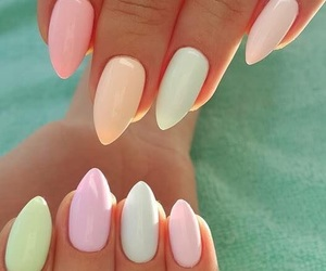 nails, colors, and manicure image
