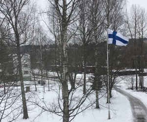 dark, finland, and home image