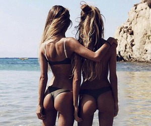 best friends, booty, and ocean image