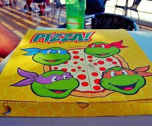 pizza, food, and ninja turtles image