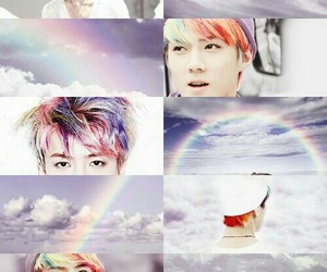 sehun, exo, and rainbow image