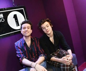 Harry Styles, one direction, and nick grimshaw image