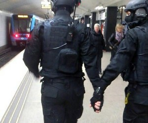 police, gay, and black image