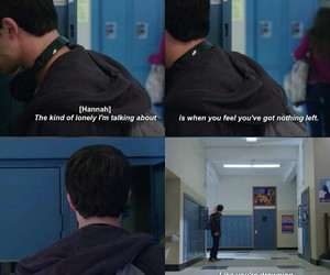 13 reasons why, clay, and lonely image
