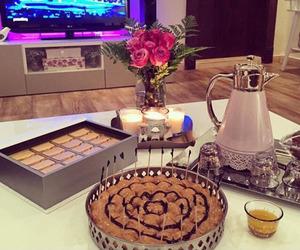 arab, cake, and coffee image