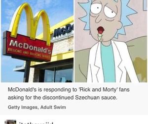 adult swim, cartoons, and McDonalds image