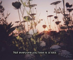 flowers, quotes, and loss image