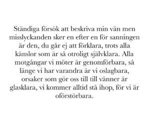 vänskap and svenska citat image