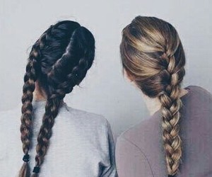hair, friendship, and friends image