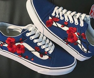 blue, fashion, and roses image