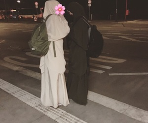 hijab, islam, and sissters image
