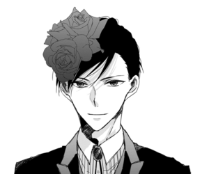 bl, black and white, and boy image