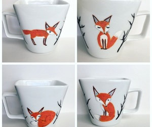 coffee, coffee mugs, and fox image