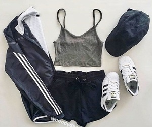 fashion, adidas, and look image