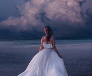 cloud, dress, and moon image