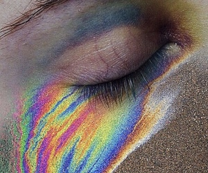 rainbow, eye, and aesthetic image