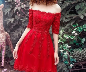 beautiful, girl, and homecoming dress image
