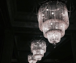 luxury, chandelier, and light image