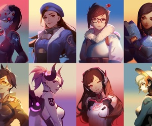 ana, mercy, and tracer image