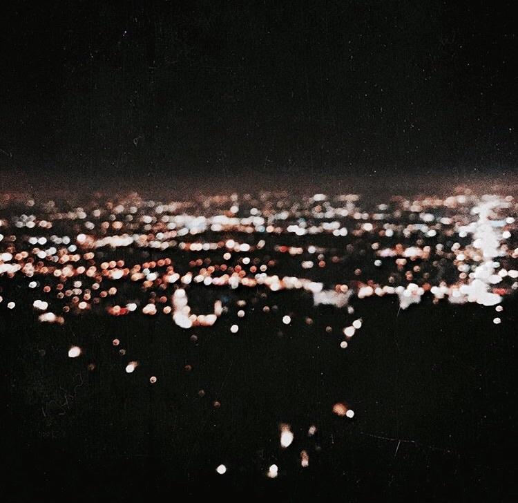 light, city, and black image