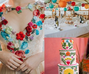 bridal, cakes, and colorful image