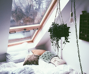 attic, bedroom, and bohemian image
