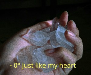 heart, ice, and grunge image