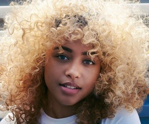 curls, curly hair, and fashion image