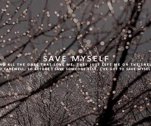 divide, Lyrics, and save myself image